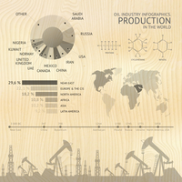Process of oil production, infographic design elements. Vector illustration. 60016000584  写真素材・ストックフォト・画像・イラスト素材 アマナイメージズ