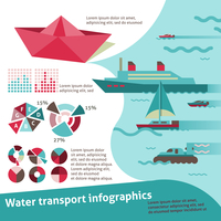 Water transport travel infographic set with sail ship yacht scooter vector illustration 60016001765  写真素材・ストックフォト・画像・イラスト素材 アマナイメージズ