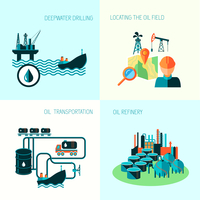 Oil industry business concept of gasoline diesel production fuel distribution and transportation four icons composition vector i 60016002916  写真素材・ストックフォト・画像・イラスト素材 アマナイメージズ