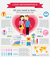 Love marriage couple infographic set with charts and world map vector illustration 60016003426  写真素材・ストックフォト・画像・イラスト素材 アマナイメージズ
