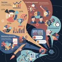 Creative infographic set with business planning development success elements vector illustration 60016003616  写真素材・ストックフォト・画像・イラスト素材 アマナイメージズ