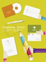 Set of office and business work elements in flat design  60016004085  写真素材・ストックフォト・画像・イラスト素材 アマナイメージズ