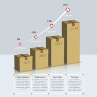 Carton cardboard box growth infographic time line with years and text vector illustration 60016004143  写真素材・ストックフォト・画像・イラスト素材 アマナイメージズ