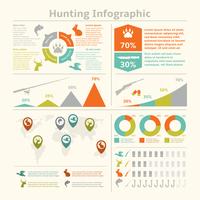 Hunting animals wildlife fishing infographics with diagrams charts for template design vector illustration 60016004144  写真素材・ストックフォト・画像・イラスト素材 アマナイメージズ