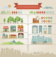 elements for infographics about city and village 60016004334  写真素材・ストックフォト・画像・イラスト素材 アマナイメージズ
