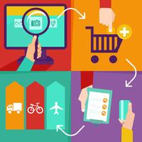 Vector internet shopping infographics 60016004337  写真素材・ストックフォト・画像・イラスト素材 アマナイメージズ
