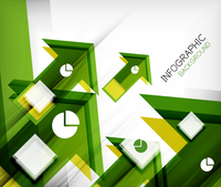 Infographic abstract background - arrow geometric shape. For business presentation   technology   web design 60016014045  写真素材・ストックフォト・画像・イラスト素材 アマナイメージズ