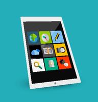 3d tablet flat concept 60016014233  写真素材・ストックフォト・画像・イラスト素材 アマナイメージズ