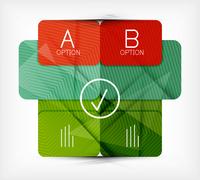 Geometric shaped option banner / infographic box / presentation panel design template 60016014402  写真素材・ストックフォト・画像・イラスト素材 アマナイメージズ