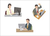 デスクワークをしているビジネスマン 60030000017  写真素材・ストックフォト・画像・イラスト素材 アマナイメージズ