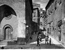 View of Corso Cavour in Perugia. The street is crowded with