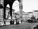 View of the piazza della Signoria, with the loggia dei Lanzi