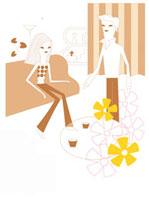 リビングで寛ぐカップルのイメージ 02419000001| 写真素材・ストックフォト・画像・イラスト素材|アマナイメージズ