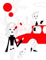 車とカップルのイメージ 02419000002| 写真素材・ストックフォト・画像・イラスト素材|アマナイメージズ