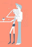 バーカウンターとカップル 02419000003| 写真素材・ストックフォト・画像・イラスト素材|アマナイメージズ