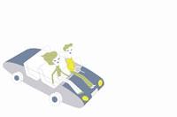 ドライブをするカップルイメージ 02419000011| 写真素材・ストックフォト・画像・イラスト素材|アマナイメージズ