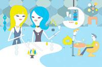 バーでお酒を楽しむ2人の女性 02419000013| 写真素材・ストックフォト・画像・イラスト素材|アマナイメージズ