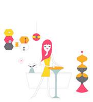 バーでお酒を楽しむ女性 02419000020| 写真素材・ストックフォト・画像・イラスト素材|アマナイメージズ