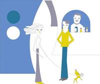 犬の散歩をする女性のイメージ 02419000033| 写真素材・ストックフォト・画像・イラスト素材|アマナイメージズ