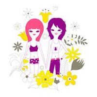 仲の良い女性2人のイメージ 02419000037| 写真素材・ストックフォト・画像・イラスト素材|アマナイメージズ