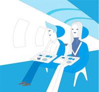 飛行機の機内イメージ 02419000046| 写真素材・ストックフォト・画像・イラスト素材|アマナイメージズ