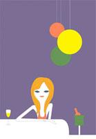 ショットバーでお酒を楽しむ女性 02419000049| 写真素材・ストックフォト・画像・イラスト素材|アマナイメージズ