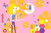 蝶と女性のイメージ 02419000058| 写真素材・ストックフォト・画像・イラスト素材|アマナイメージズ