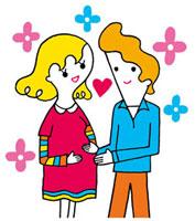 妊婦と夫のイメージ 02419000075| 写真素材・ストックフォト・画像・イラスト素材|アマナイメージズ