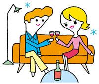 ワインで乾杯する男女 02419000078| 写真素材・ストックフォト・画像・イラスト素材|アマナイメージズ