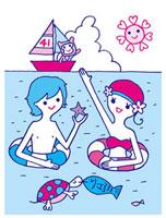 海でのカップル 02419000079| 写真素材・ストックフォト・画像・イラスト素材|アマナイメージズ