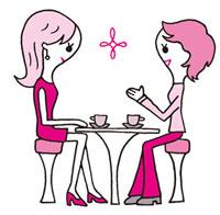 おしゃべりを楽しむ女性 02419000087| 写真素材・ストックフォト・画像・イラスト素材|アマナイメージズ