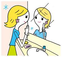 化粧直しをする女性 02419000089| 写真素材・ストックフォト・画像・イラスト素材|アマナイメージズ
