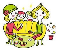 ママ友達と子供達のイメージ 02419000090| 写真素材・ストックフォト・画像・イラスト素材|アマナイメージズ