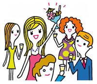 乾杯をする女性 02419000114| 写真素材・ストックフォト・画像・イラスト素材|アマナイメージズ