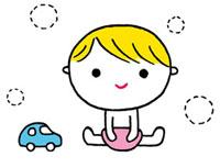 赤ちゃんと車のおもちゃ 02419000124| 写真素材・ストックフォト・画像・イラスト素材|アマナイメージズ