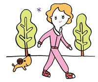 ウォーキングする女性 02419000131| 写真素材・ストックフォト・画像・イラスト素材|アマナイメージズ