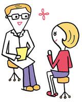 診察室で医師の診断を受ける女性 02419000132| 写真素材・ストックフォト・画像・イラスト素材|アマナイメージズ