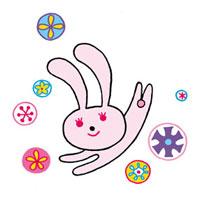 はねるウサギのイメージ 02419000135| 写真素材・ストックフォト・画像・イラスト素材|アマナイメージズ