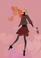 ハート形の風船を持って愛を伝える女性 02674000030| 写真素材・ストックフォト・画像・イラスト素材|アマナイメージズ