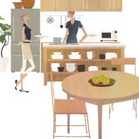 キッチンに立つ女性と男性 02674000065| 写真素材・ストックフォト・画像・イラスト素材|アマナイメージズ