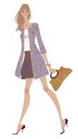 春コートを着て嬉しそうに歩く女性 02674000073| 写真素材・ストックフォト・画像・イラスト素材|アマナイメージズ