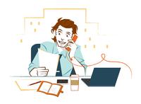 オフィスで仕事をする男性 02696000027  写真素材・ストックフォト・画像・イラスト素材 アマナイメージズ