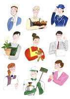 色々な職業の人たち 02837000209  写真素材・ストックフォト・画像・イラスト素材 アマナイメージズ