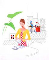 お茶で休憩 20037000729  写真素材・ストックフォト・画像・イラスト素材 アマナイメージズ
