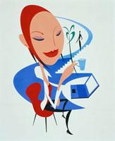 お茶を飲む女性 20037001194  写真素材・ストックフォト・画像・イラスト素材 アマナイメージズ