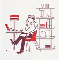 パソコンを見る男性 20037001567  写真素材・ストックフォト・画像・イラスト素材 アマナイメージズ
