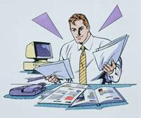 書類を見る男性 20037003734  写真素材・ストックフォト・画像・イラスト素材 アマナイメージズ