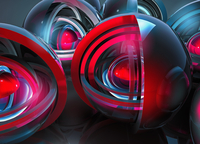 Abstract glowing concentric spheres  20039003604| 写真素材・ストックフォト・画像・イラスト素材|アマナイメージズ