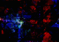 Distant light at center of abstract blue and red geometric p 20039004036| 写真素材・ストックフォト・画像・イラスト素材|アマナイメージズ