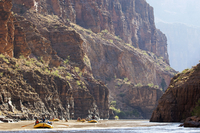 USA, Arizona, Grand Canyon.  Rafting the lower section of the Colorado River through Grand Canyon